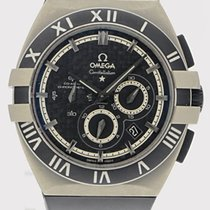 Omega Titanium Automatic Black 42mm pre-owned Constellation Double Eagle