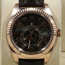 Rolex Sky-Dweller Or rose 42mm Brun Arabes