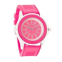 New Juicy Couture Rich Girl Ladies Pink Stainless Steel Quartz...