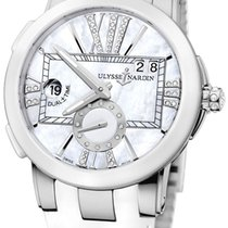 Ulysse Nardin Steel Automatic Mother of pearl Roman numerals 40mm new Executive Dual Time Lady