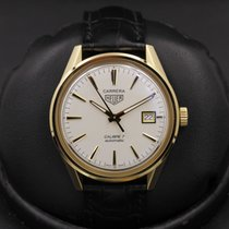 TAG Heuer Carrera Calibre 7 Yellow gold 39mm White United States of America, California, Huntington Beach