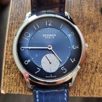 Hermès Slim d'Hermès Steel 40mm Blue Arabic numerals United States of America, Washington, Seattle