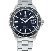 TAG Heuer Aquaracer 500M pre-owned 41mm Black Date Steel