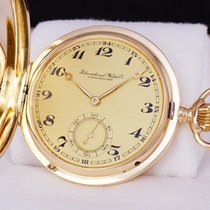 IWC Yellow gold 52mm Manual winding IWC Schaffhausen pocket watch unused from 1916 new