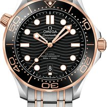 Omega Seamaster Diver 300 M Gold/Steel 42mm Black No numerals United States of America, Florida, Sunny Isles Beach