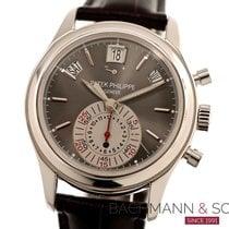 Patek Philippe Annual Calendar Chronograph Platinum 40mm Grey No numerals