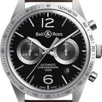 Bell & Ross BR V1 Сталь 42mm Черный Aрабские