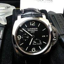 055344f1761b Panerai Luminor 1950 GMT 3 Day PAM 321 Black Automatic 44mm Watch ...