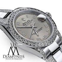 Rolex Lady-Datejust Сталь 26mm Cерый