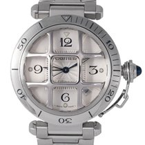 Cartier Steel Gents Pasha Automatic with Grill, Ref: 2379