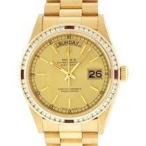 Rolex 18038 Yellow gold 1980 Day-Date 36 36mm pre-owned United States of America, California, Los Angeles