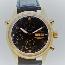IWC Yellow gold Automatic 40mm pre-owned Pilot Double Chronograph