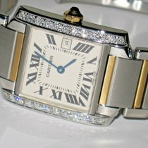 Cartier Tank Française Gold/Steel 31mm Silver Roman numerals United States of America, New York, NEW YORK CITY