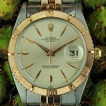 Rolex Datejust Turn-O-Graph Acero y oro 36mm Plata Sin cifras