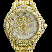 Cartier Cougar Or jaune 25mm Champagne Romain