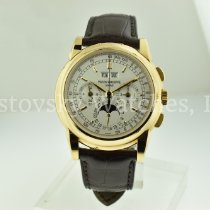 Patek Philippe Perpetual Calendar Chronograph Yellow gold Silver United States of America, California, Beverly Hills