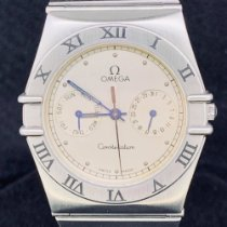 Omega Constellation Day-Date Acero 33mm Plata Sin cifras