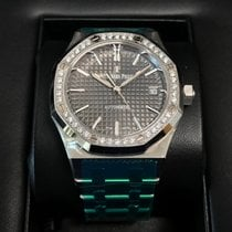 オーデマ・ピゲ (Audemars Piguet) Royal Oak Steel 37mm Diamond Bezel