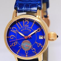 Krieger Gigantium 18k Rose Gold Blue LIMITED Mens 43mm Watch...