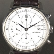 Baume & Mercier Classima chronographe ref: 65533  acier sur cuir