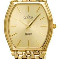 Condor 14kt Gold Mens Luxury Swiss Watch Quartz GS21004