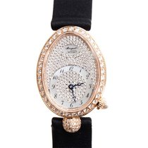 宝玑  Reine De Naples 18k Rose Gold With Diamonds Silver...