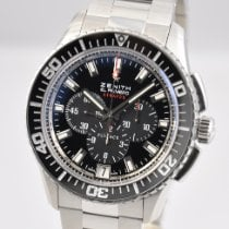 Zenith El Primero Stratos Flyback pre-owned 45.5mm Black Chronograph Flyback Date Steel