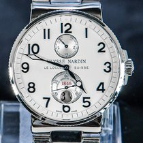 Ulysse Nardin Steel Automatic Silver Arabic numerals 41mm pre-owned Marine Chronometer 41mm