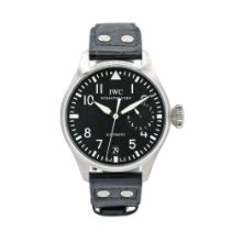 IWC Big Pilot pre-owned 46.2mm Black Leather