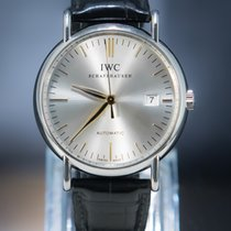 IWC Steel Automatic Silver No numerals 39mm pre-owned Portofino Automatic