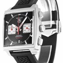 TAG Heuer Monaco Calibre 12 TAG Heuer Men's CAW2114FT6021 Monaco Black Dial Watch 2004 new