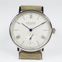 NOMOS Ludwig 33 Staal 32,8mm Wit Romeins