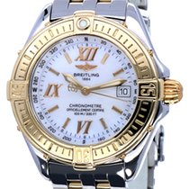 Breitling Lady B Class Gold Steel Pearl Roman Dial 31 mm (2001)