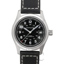Hamilton Khaki Field Auto 38mm Black Steel/Leather - H70455733