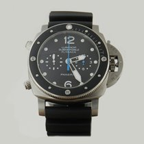 Panerai LUMiNOR 1950 SUBMERSiBLE FLYBACK 2016 PAPERS PAM615