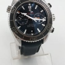 Omega Seamaster Planet Ocean Chronograph occasion Noir Chronographe Date Caoutchouc