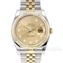 Rolex 116233G Gold/Steel 2009 Datejust 37mm pre-owned
