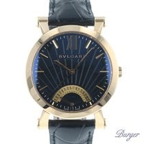 Bulgari Sotirio Rose gold 42mm Black Roman numerals