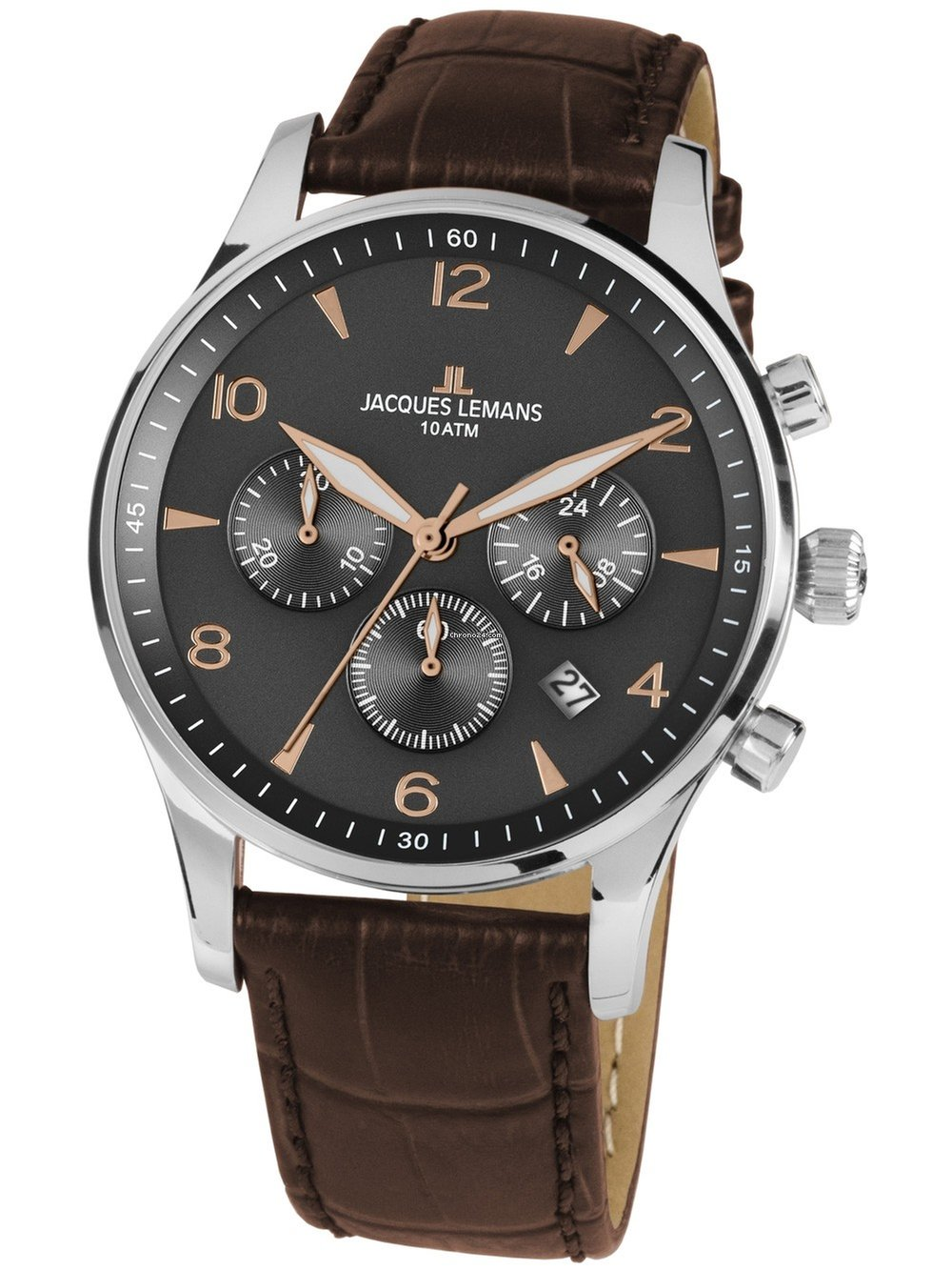 Jacques London 1 Chronograph 1654zk 10atm Lemans 40mm O0nkwP