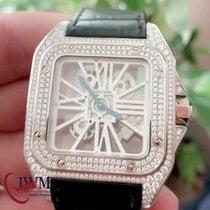 Cartier Palladium Handaufzug gebraucht Santos 100