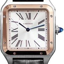 Cartier Santos Dumont Złoto/Stal 31.4mm Srebrny
