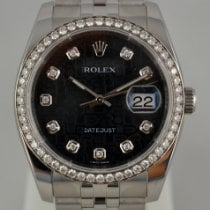 Rolex Datejust pre-owned 36mm Black Date Steel