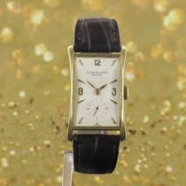 Patek Philippe Hour Glass Gelbgold 25mm Silber