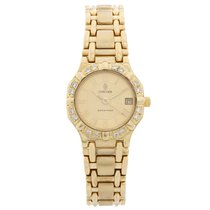 Concord Saratoga pre-owned 24mm Champagne Yellow gold