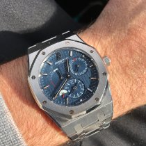 Audemars Piguet Royal Oak Dual Time occasion 39mm Bleu Date Acier