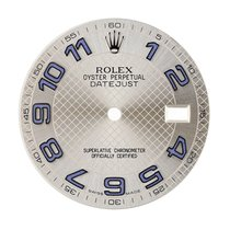 Rolex DateJust 36mm Silver Blue Numerals Original Factory Dial