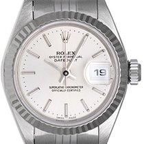 Rolex Ladies Rolex Datejust Stainless Steel Watch 69174 Silver...