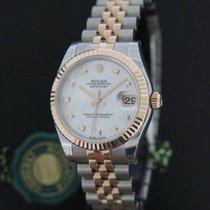 Rolex Datejust Everosegold/Steel MOP Diamond Dial NEW 178271