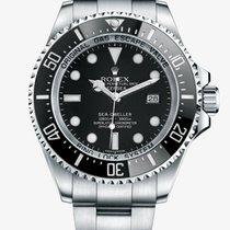 Rolex Sea-Dweller Deepsea Staal 44mm Zwart Geen cijfers