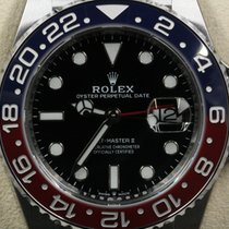 Rolex GMT-Master II Black Index Dial Red/Blue (Pepsi) Bezel...
